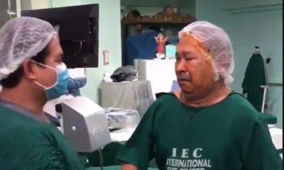 hombre recupero vista