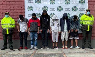 hombres capturados vandalismo bloque