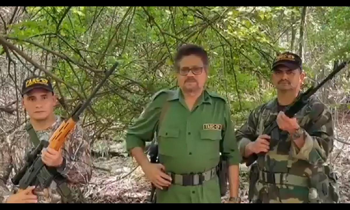 Reapareció 'Iván Márquez', el jefe prófugo de las disidencias de las Farc y habló del Paro Nacional