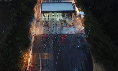 manifestaciones-peaje-túnel de occidente