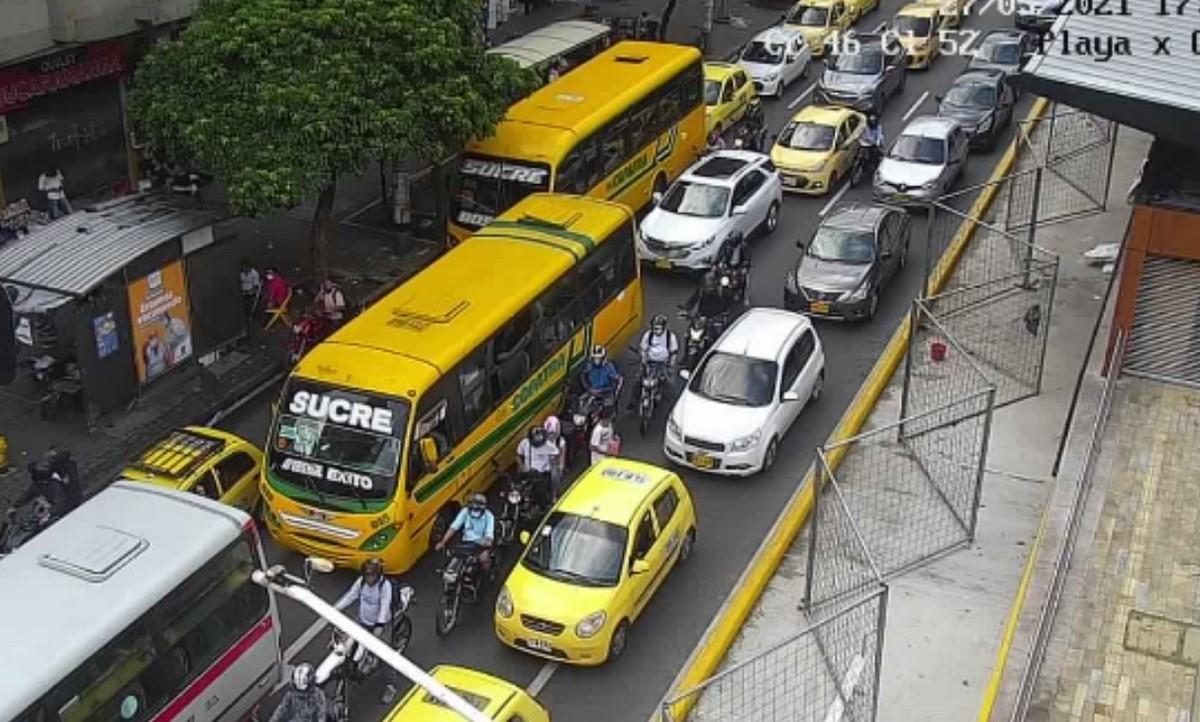 Estado de las vías en Medellín este jueves