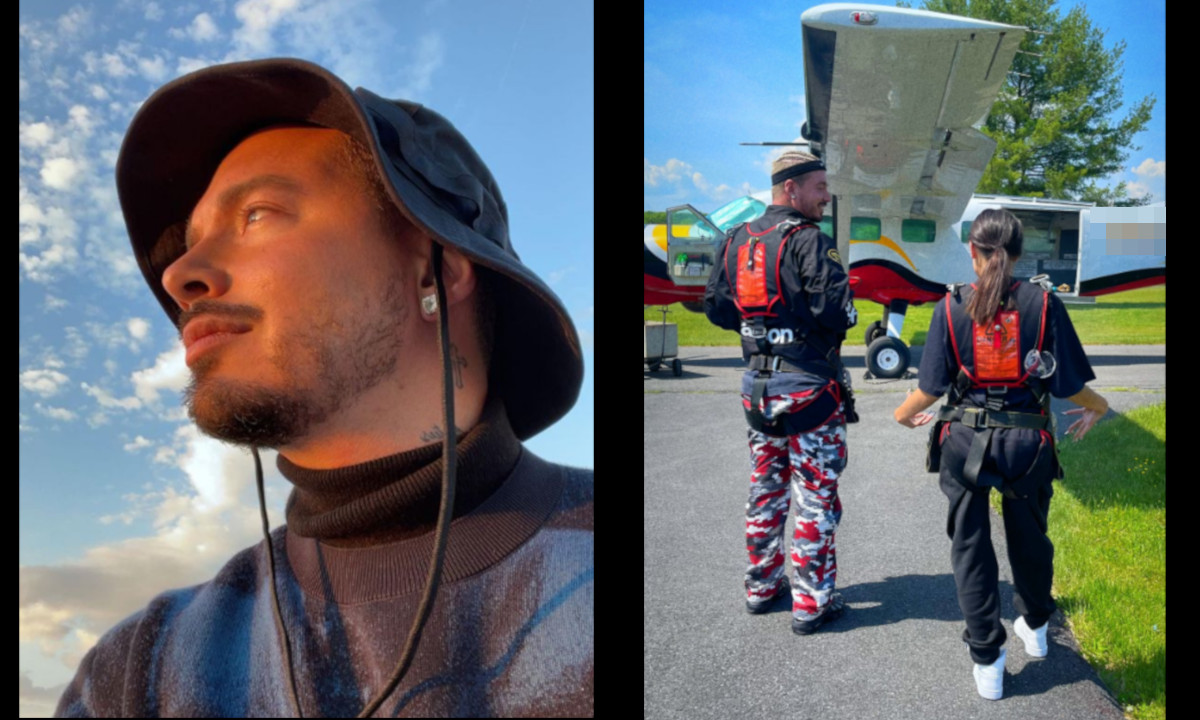 [Video] ¡Tan 'bacano'! J Balvin se lanzó de un paracaídas y confesó que este era uno de sus miedos