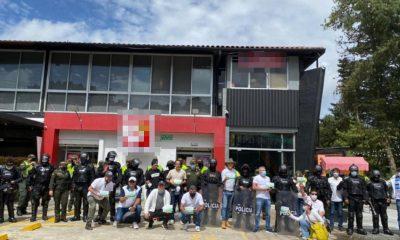Hay manifestación pacifica en el Peaje de Las Palmas