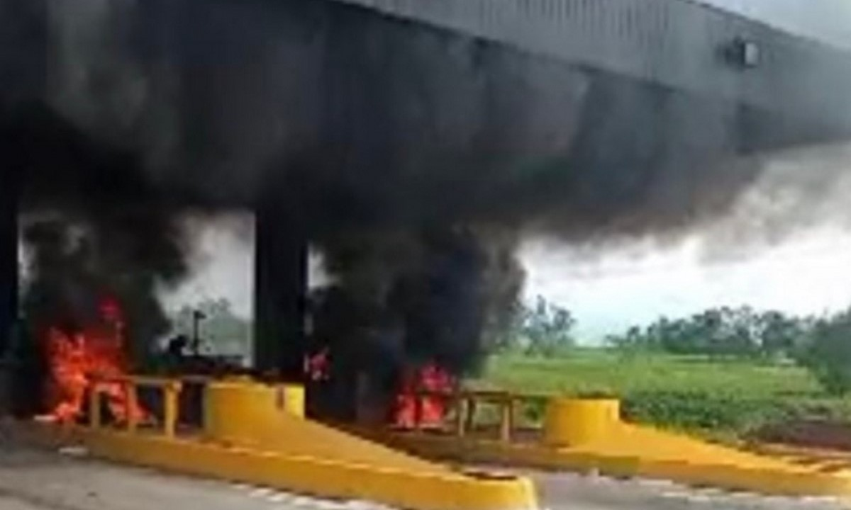 Quemaron el peaje de Villa Rica, Cauca en enfrentamientos