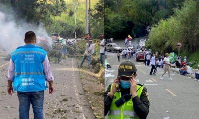 Manifestantes desbloquearon la vía hacia San Cristóbal