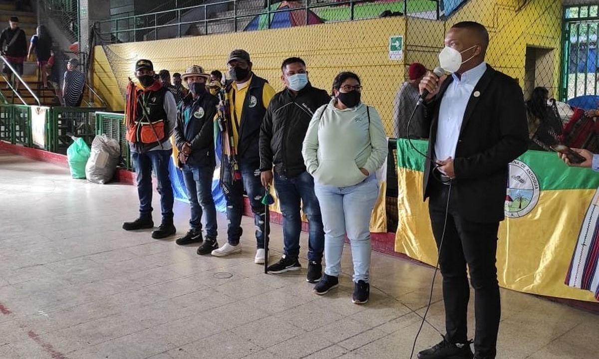 Personero de Medellín se reunió con la minga indígena