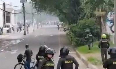 Policías heridos en Cali