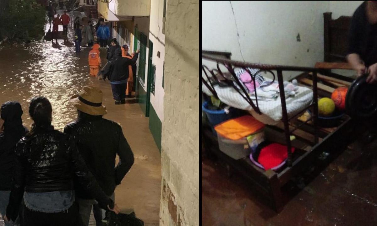 Fuerte inundación en Rionegro, hay más de 20 viviendas afectadas y varios locales comerciales