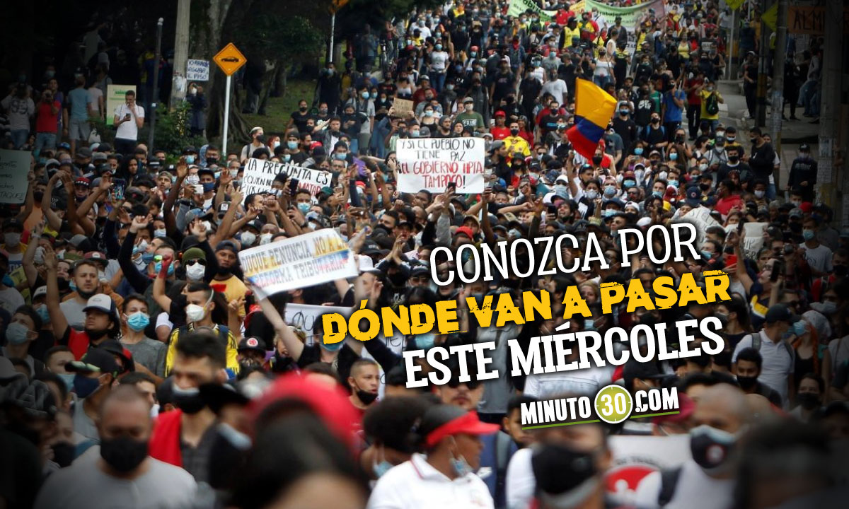 Rutas marchas del 26 de mayo en Medellín