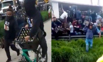 Denuncian que saquearon camión con cervezas en Facatativá