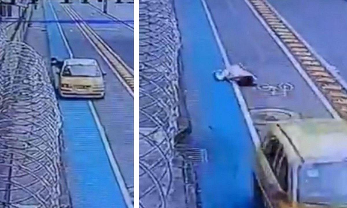 taxi arrastra mujer guayabal