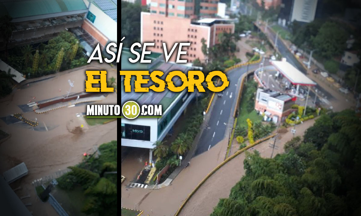 [Videos] Fuertes lluvias en el Valle de Aburrá, alertan del aumento en los niveles del río Aburrá-Medellín