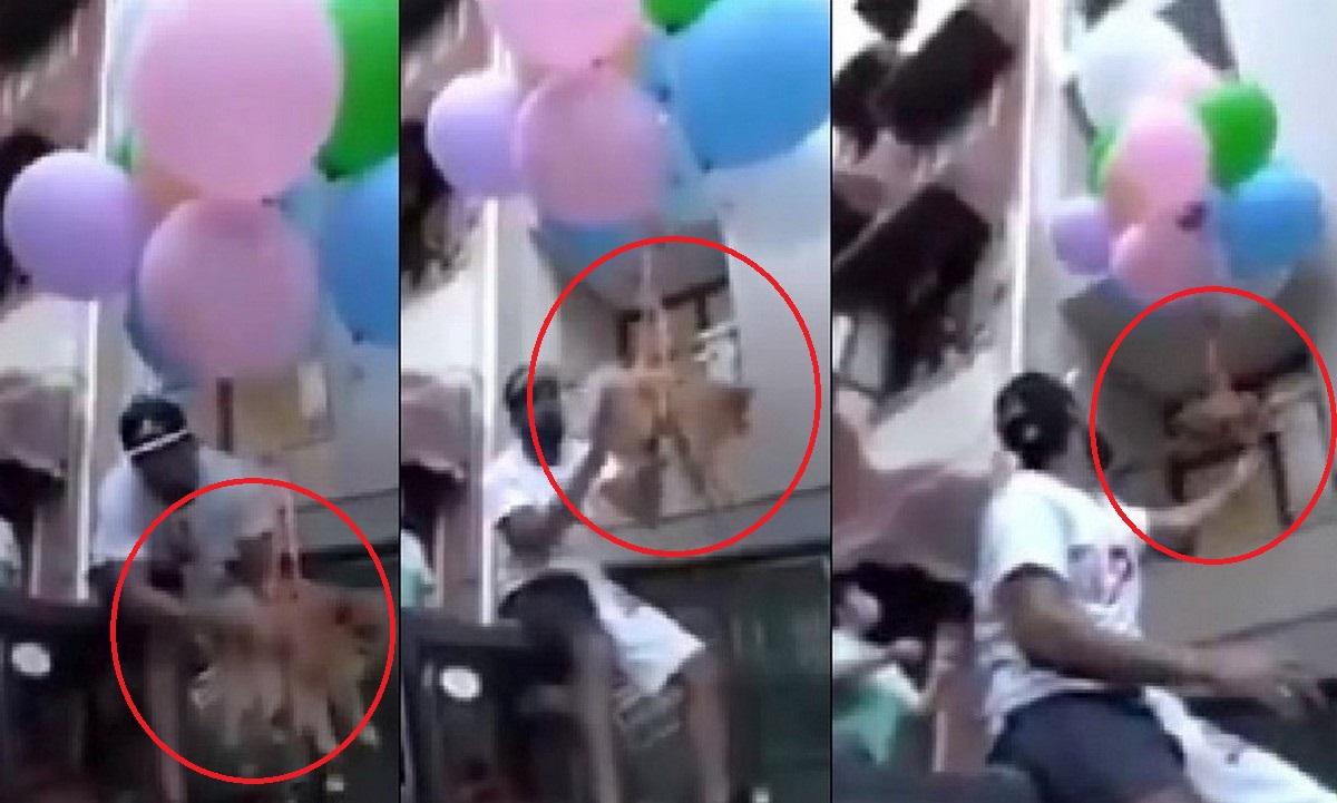 Youtuber puso a 'volar' a su perro con globos de helio