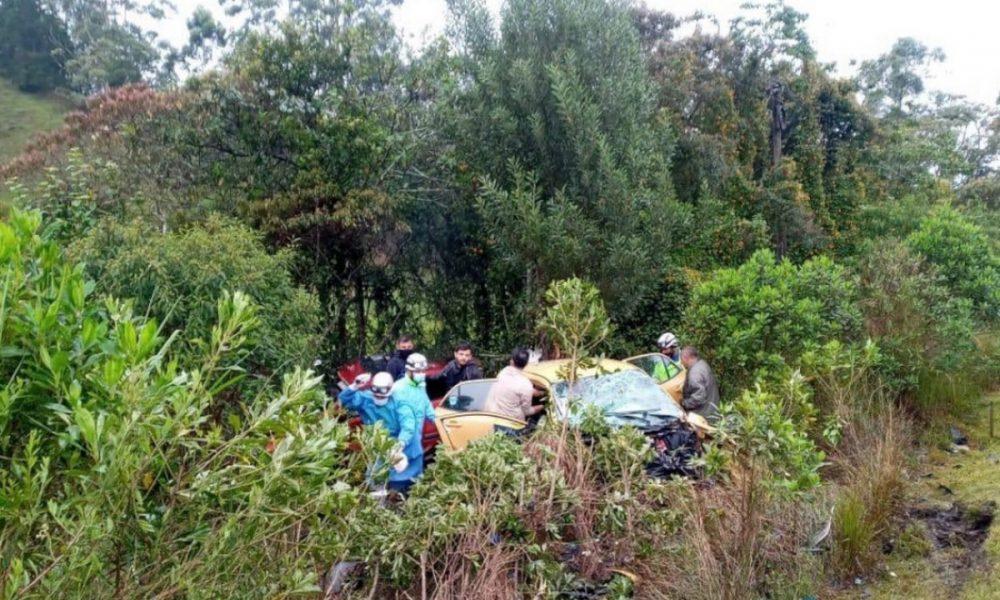 ¡Tragedia! Cinco personas muertas tras accidente en la vía Guarne - Aeropuerto de Rionegro