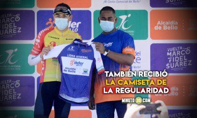 Alejandro Osorio es el ganador de la primera etapa de la Vuelta Nacional de Ciclismo en Bello