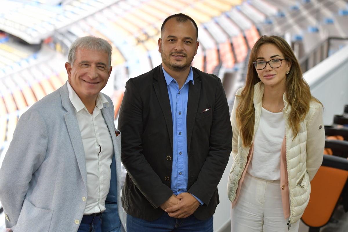 Alianza dirigentes Independiente Medellin que recibio visita de Global Football Alliance 2