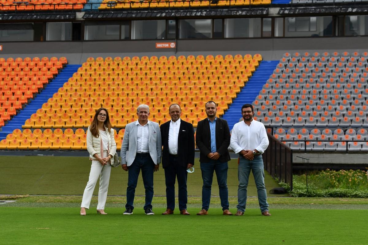Alianza dirigentes Independiente Medellin que recibio visita de Global Football Alliance 3