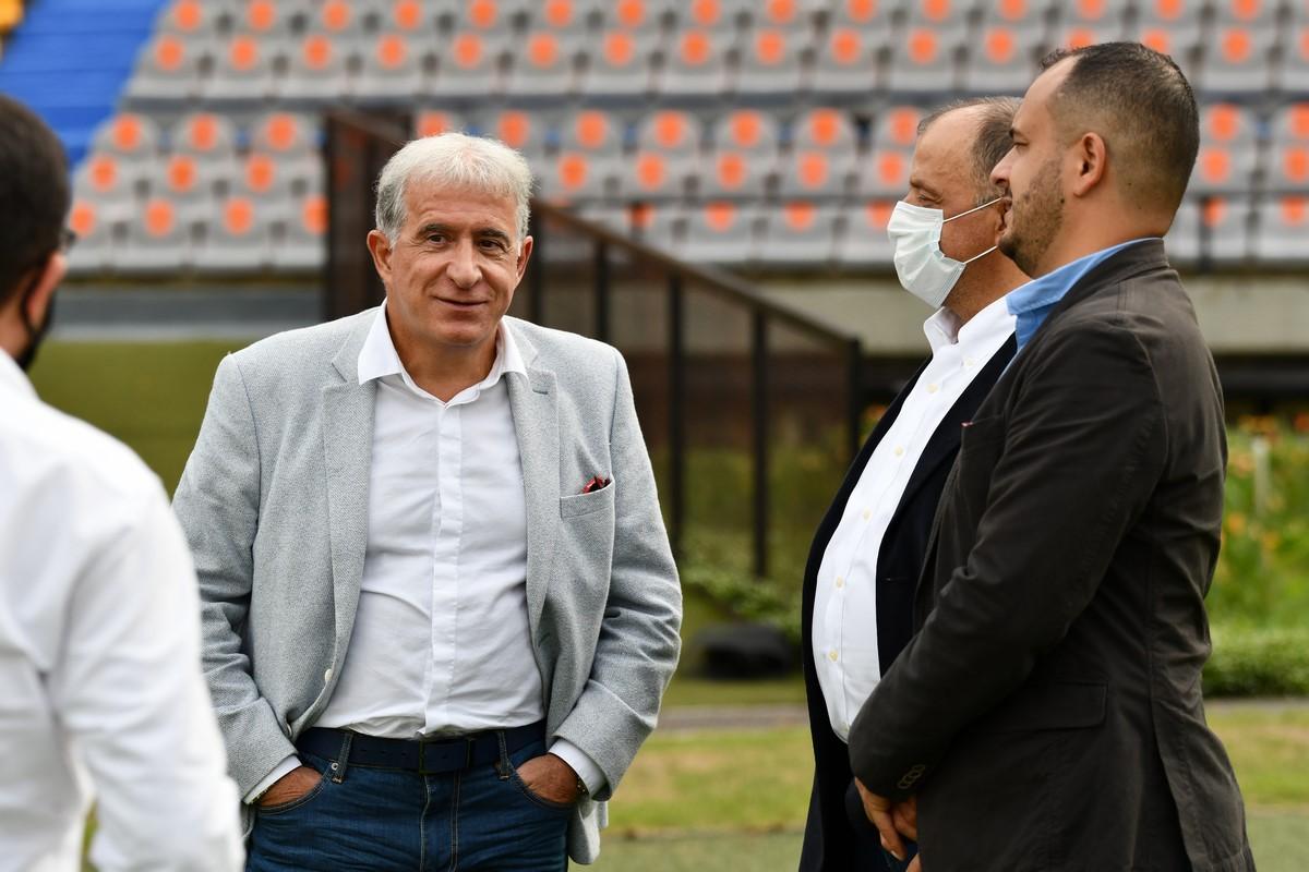 Alianza dirigentes Independiente Medellin que recibio visita de Global Football Alliance 4