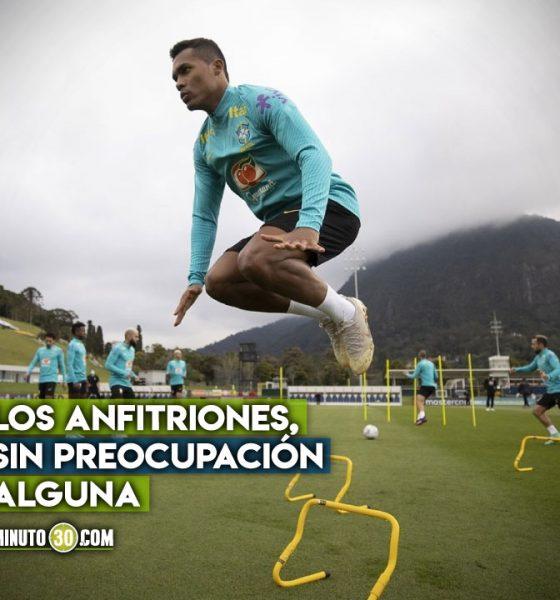 Asi entrena Brasil previo al partido con Colombia