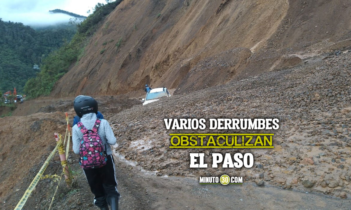 [Fotos] ¡Atención! No hay paso en la vía Medellín - Quibdó