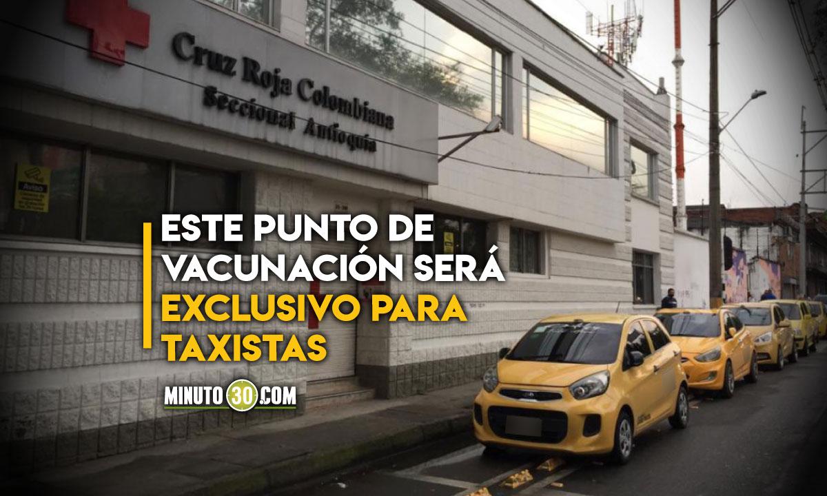 Habilitaron primer punto de vacunación para taxistas en Medellín