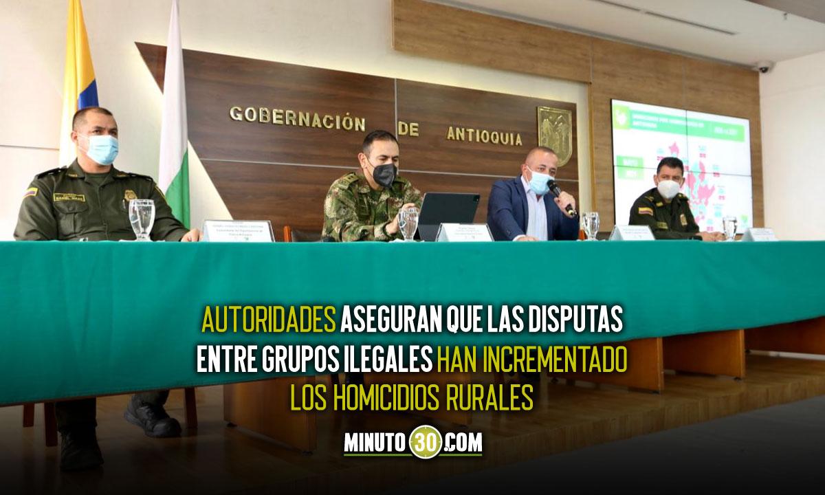 Antioquia aumentó en un 10% los homicidios durante mayo