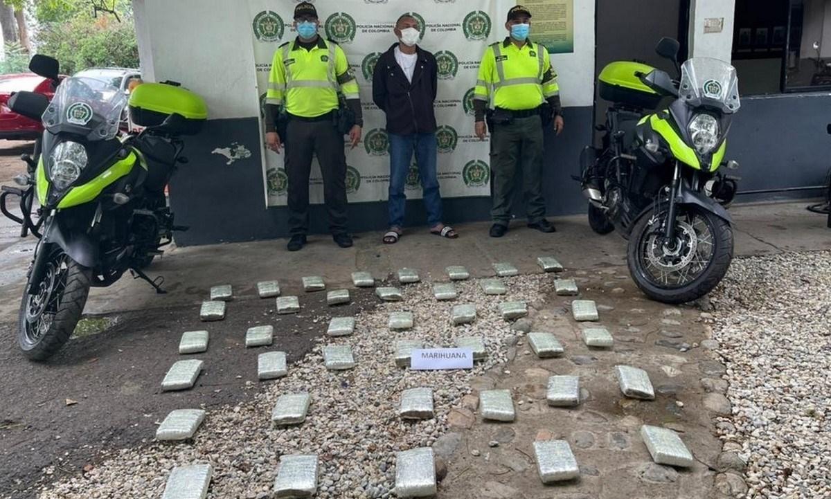Capturado 40 kilos de marihuana en Zona Bananera 1