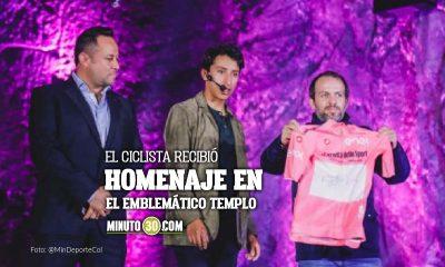 Catedral de Sal de Zipaquira se vistio rosa para recibir a Egan Bernal