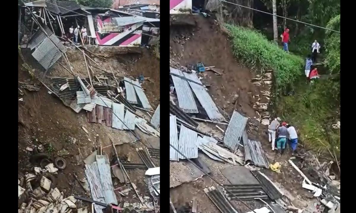 [Video]¡Qué pesar! Un local comercial colapsó y se fue al río Chigorodó