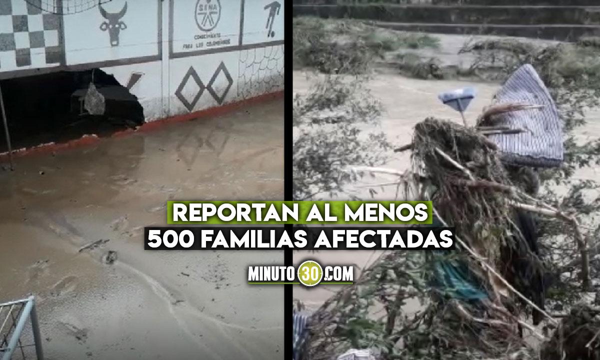 Se inundó Cisneros por las fuertes lluvias