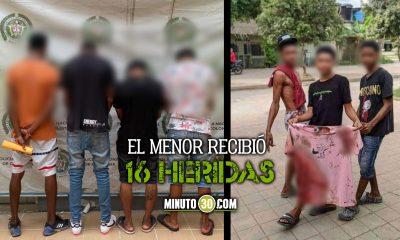 [Fotos y video] Cogieron a 4 menores que habrían asesinado a machete a otro joven en Urabá