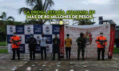 Cogieron a tres panameños con cocaína y marihuana en el Golfo de Urabá