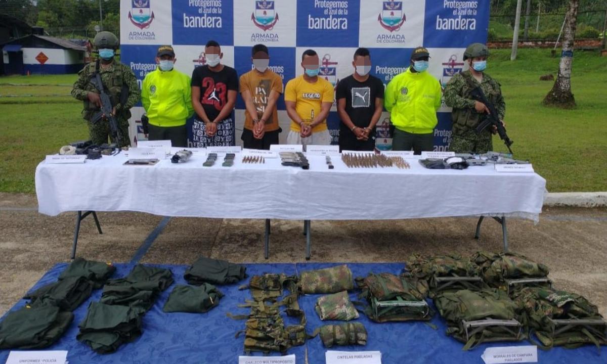 """Cogieron a """"pollo"""", """"picho"""", """"Néstor"""" y """"gonzalito"""", tenían pistolas, munición y hasta drones"""