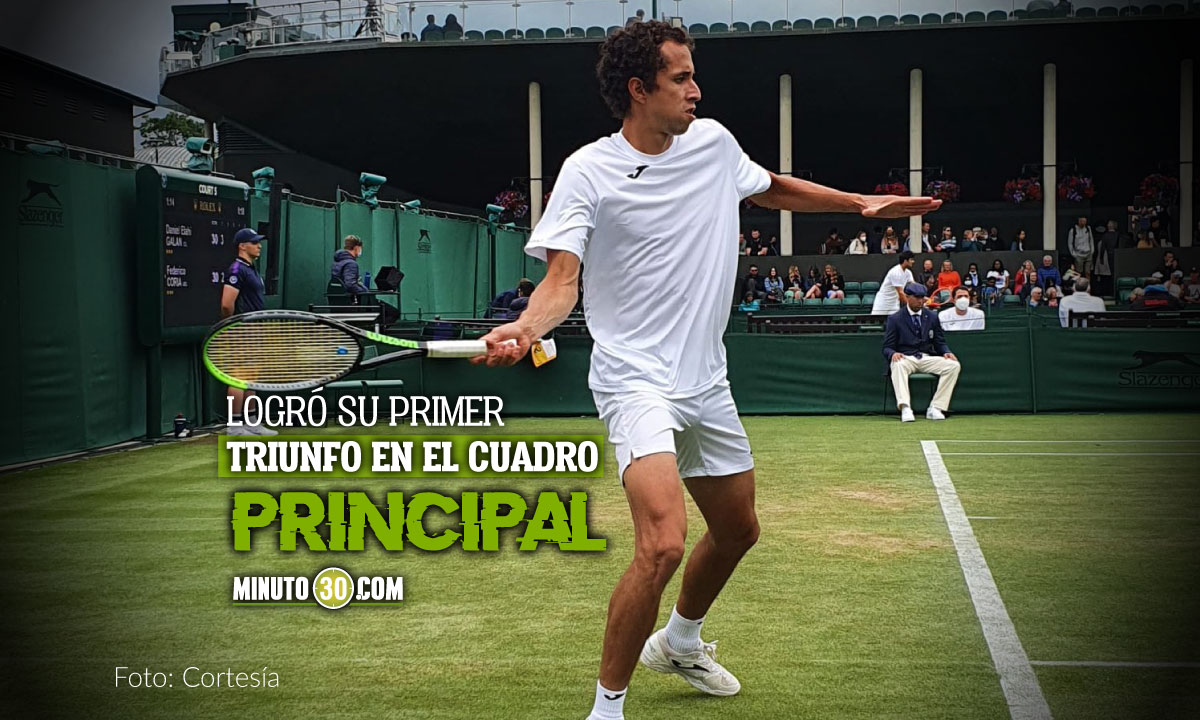 Daniel Galan avanzo a segunda ronda en Wimbledon