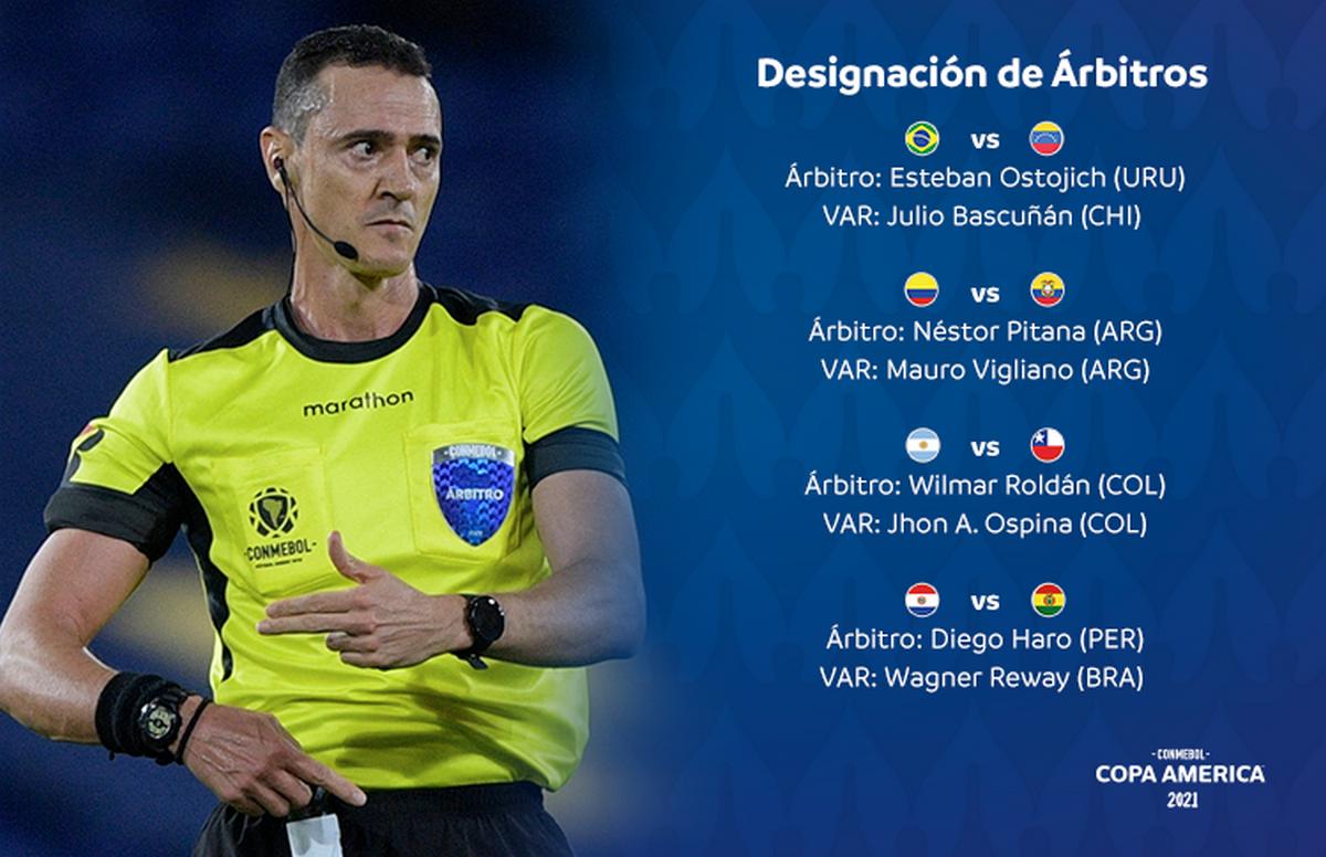 Designados los arbitros para la primera fecha de la Copa America