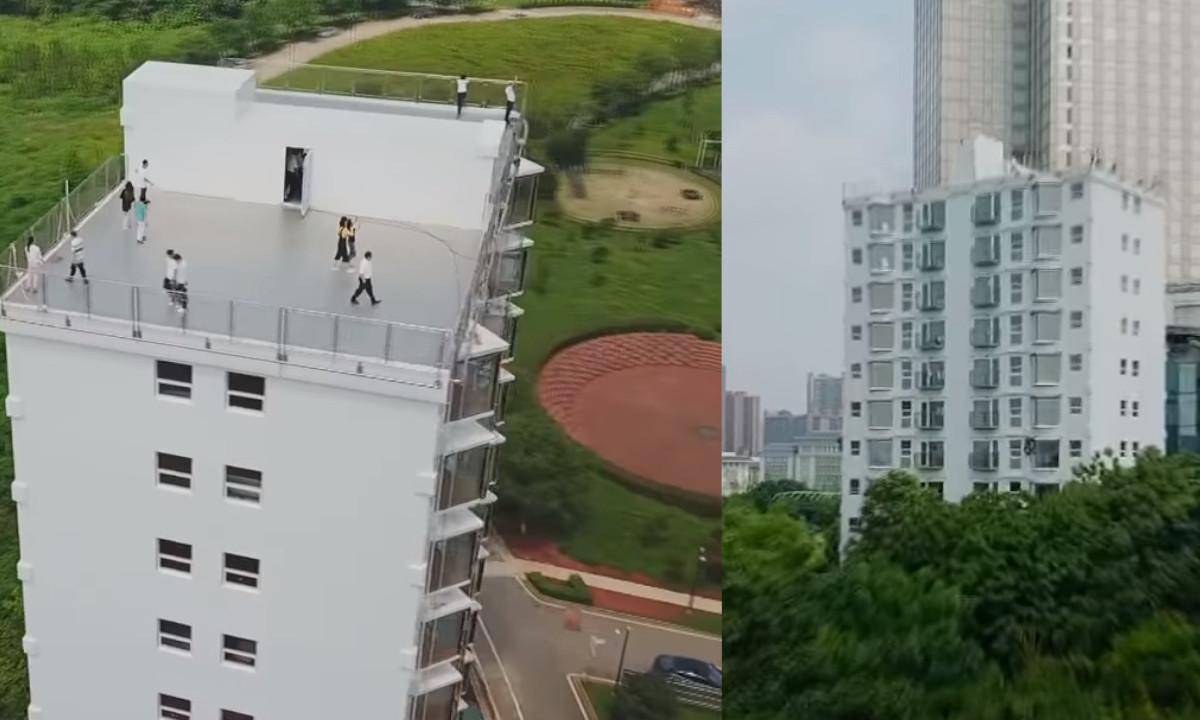 ¡Sorprendente! Chinos construyeron un edificio en menos de 29 horas