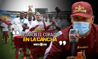El merito es para Dios y para los jugadores Hernan Torres