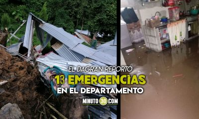 Viviendas destruidas, arboles caídos e inundaciones: El saldo de las fuertes lluvias este fin de semana en Antioquia