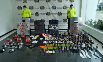 En Barranquilla, la Policía incautó un material que sería utilizado para elaborar bombas molotov