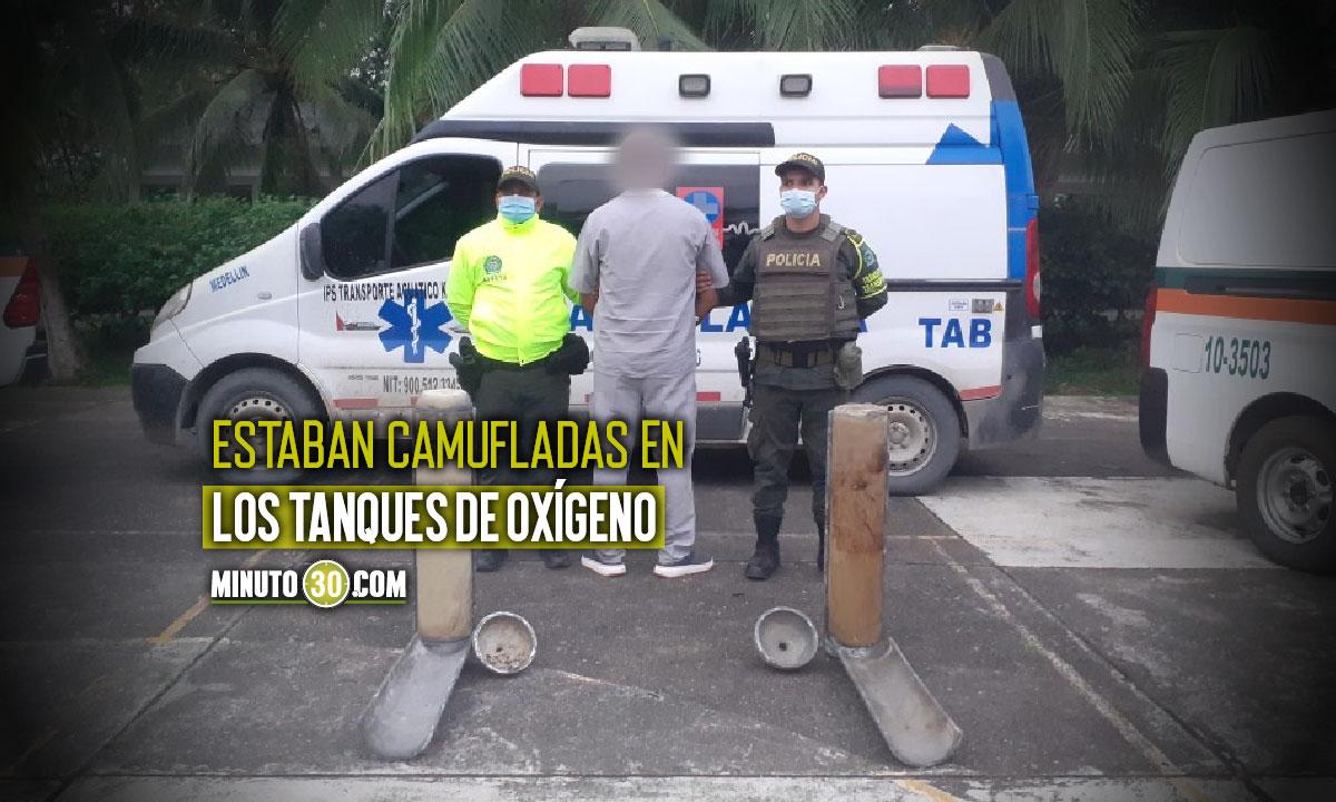 En Urabá movilizaban cocaína en una ambulancia
