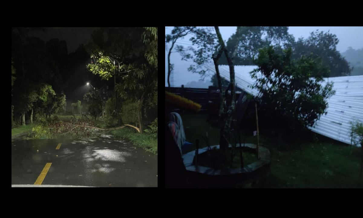[Fotos] Fuertes lluvias generan afectaciones en Envigado