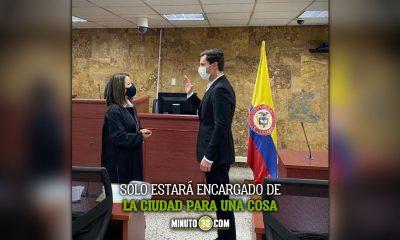 Este jueves se posesiono Juan Pablo Diaz como alcalde de Medellin Ad hoc