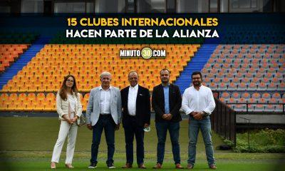 Independiente Medellin recibio visita de Global Football Alliance
