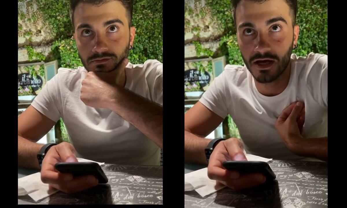 ¡Viral! Reacción de un Italiano cuando su novia le dice que quiere pedir piña en su pizza