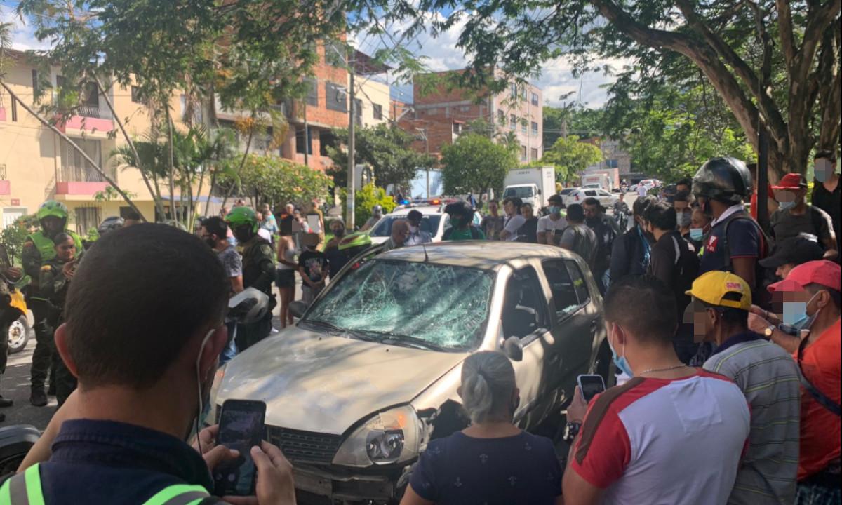 [Video] Moteros y Policías persiguieron a un presunto ladrón en Calasanz