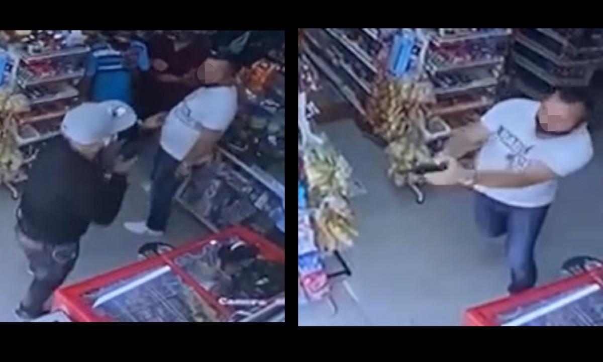 [Video]Le disparó a un ladrón y el tiro casi le da a una vendedora del sector