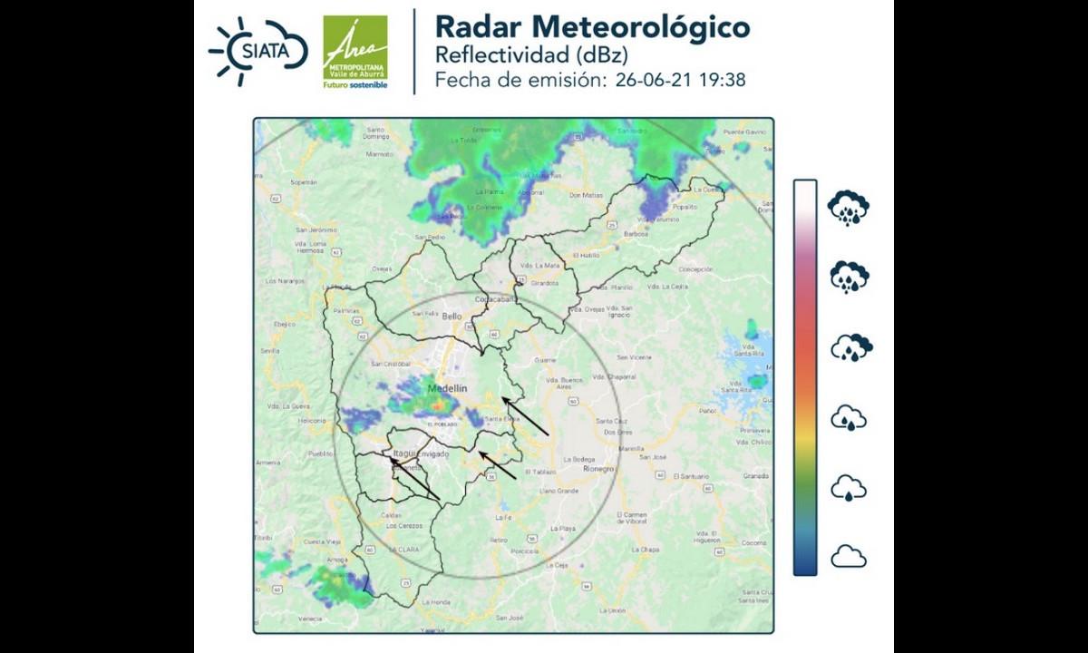 Reportan lluvias en sectores de Guayabal, El Poblado y La Candelaria