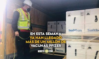 Mas de Pfizer Este jueves llegaron a Colombia mas de 530 mil vacunas