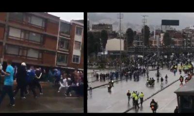 [Videos] Pelearon a las afueras del Campín tras la derrota de Millonarios ante Tolima