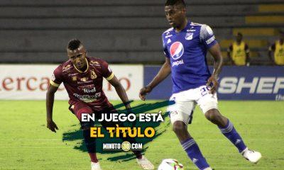 Millonarios y Tolima definiran este domingo el campeon de la Liga I 2021